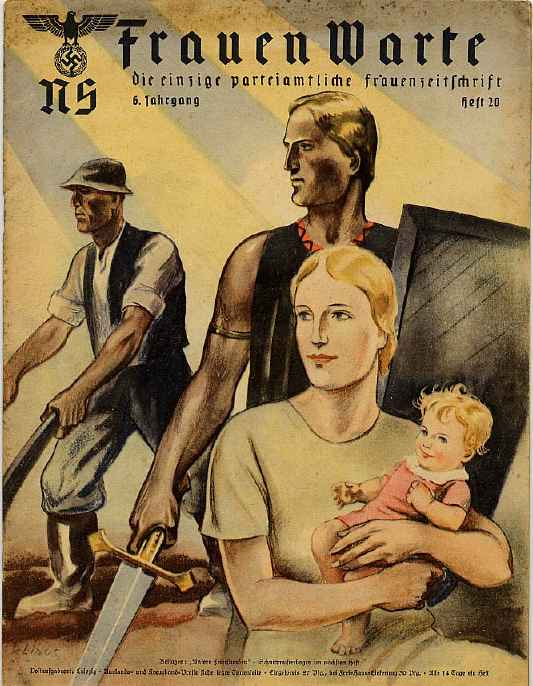 Magazine for Females, Depicting An Ideal Family According to Hitler's views