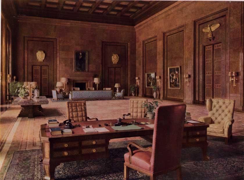 Hitler's office in the new Reich Chancellerey