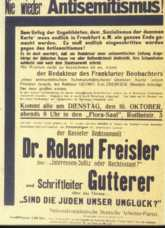 Freisler Meeting Poster
