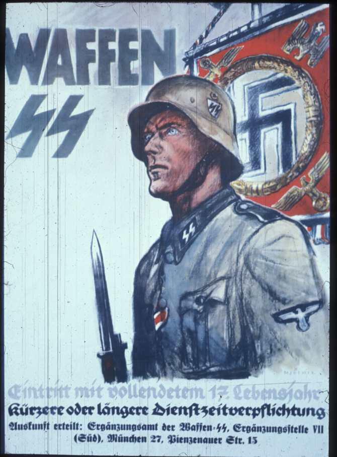 Если с немецкими плакатами что не так - все претензии к Геббельсу.